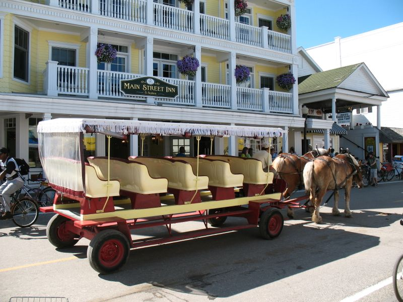 Carriage at main hotel