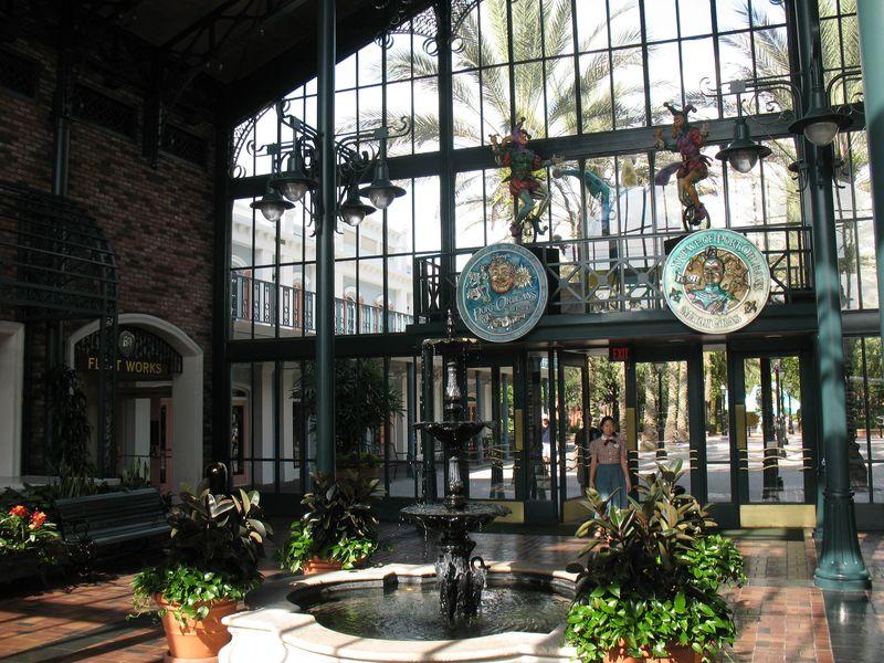Disney's Port Orleans French Quarter resort lobby