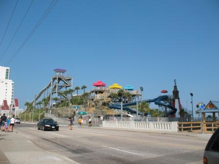 Water Slides on the beach at Myrtle Beach SC