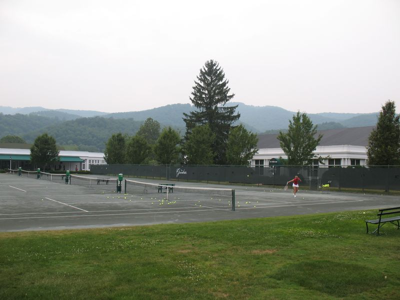 Greenbriar tennis courts in White Sulfur Springs WV