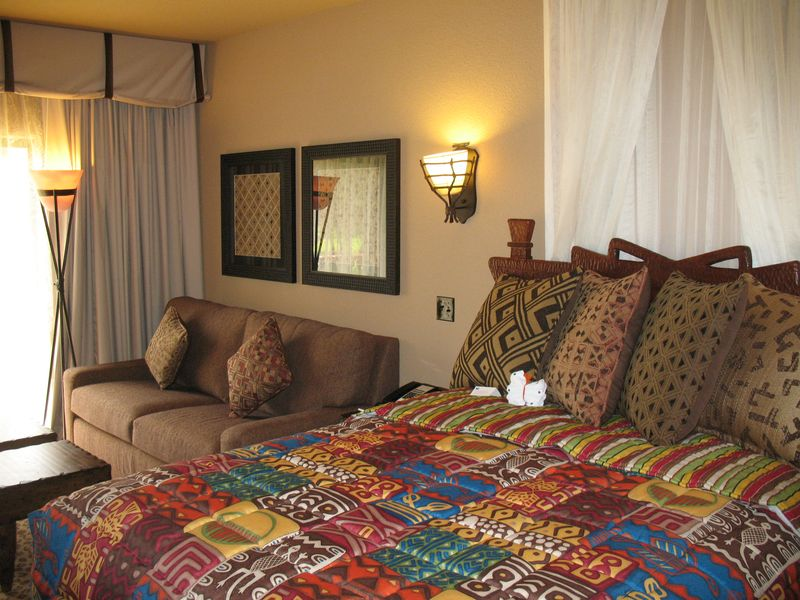 Disney's Animal Kingdom Lodge studio (entry level room)