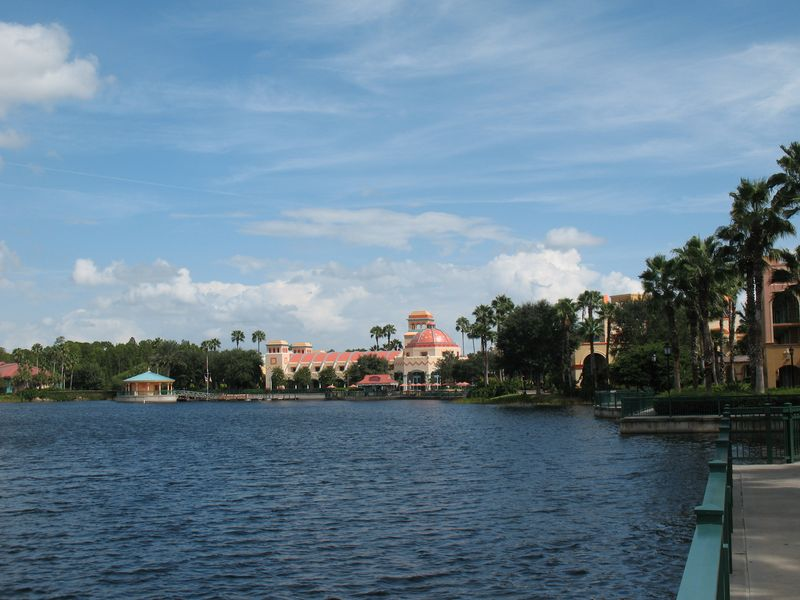 Disney's Coronado Springs Resort lake view of El Centro