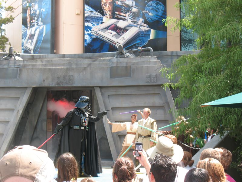 Disney Studos Orlando Darth Vader and Luke Skywalker