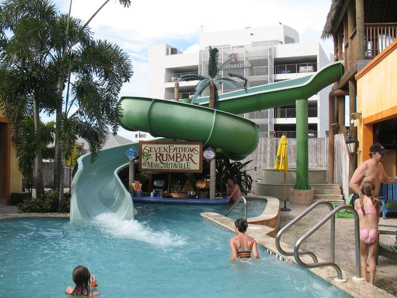 Water slide at Margaritaville in Grand Cayman