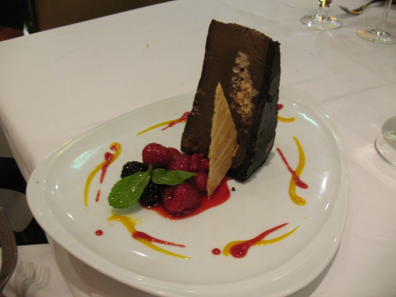 Mud Pie dessert at Chops Grille on Navigator of the Seas