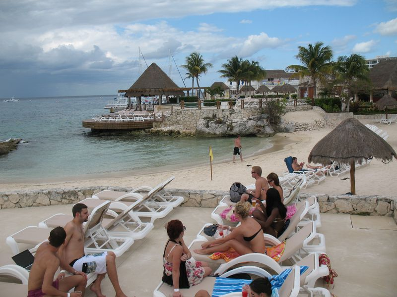 Beach area at Park Roayl Cozumel