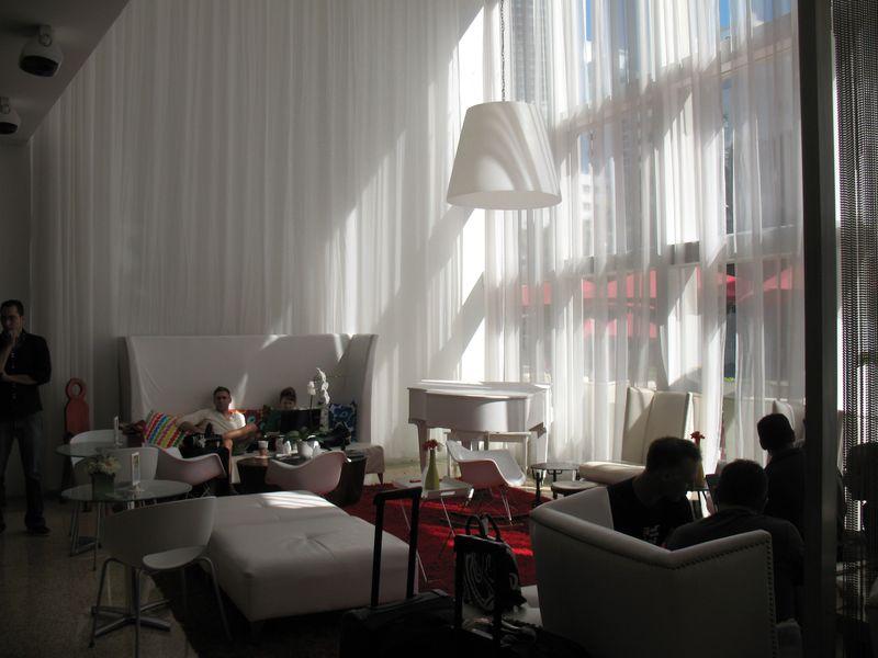 Lobby at Catalina hotel in South Beach