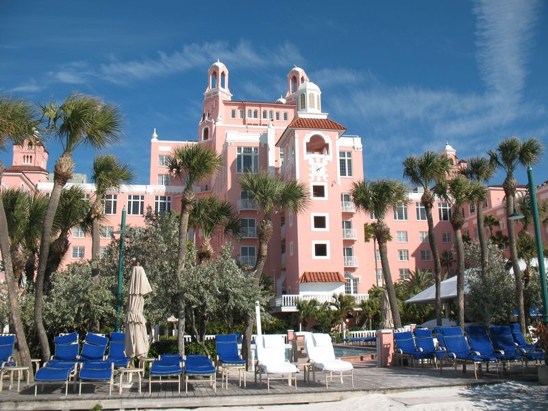 St Pete Hotels Jan 27 2011 Don CeSar from beach