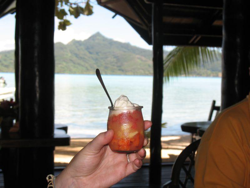 Vahine Island resort dessert