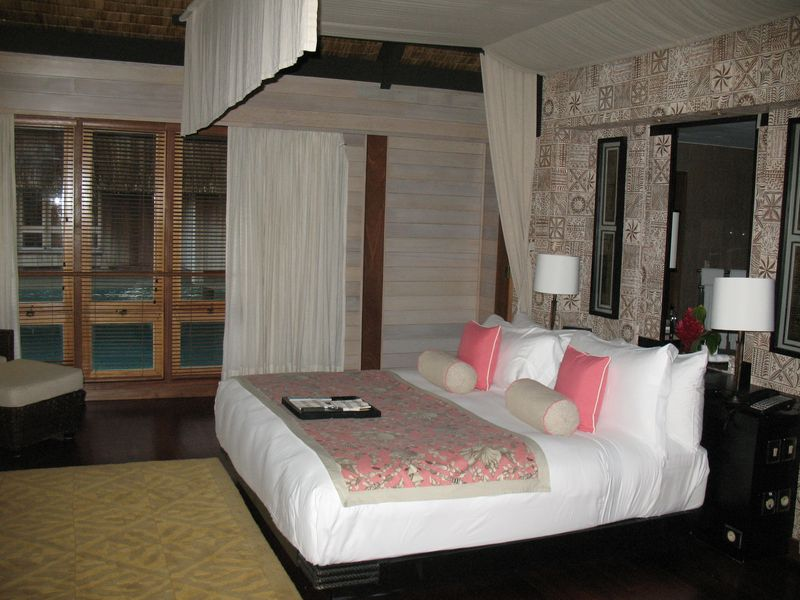 ST Regis Resort Bora Bora overwater bungalow bedroom
