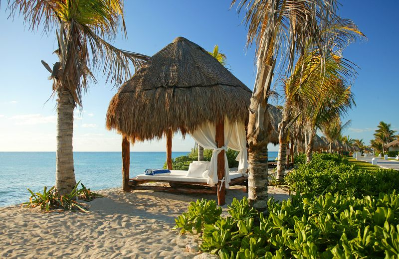 El Dorado Royale in Riviera Maya Beach Bed on Sand