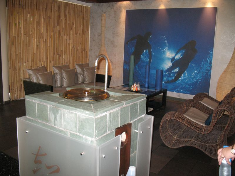 Intercontinental Thalasso resort and spa  Bora Bora spa lounge