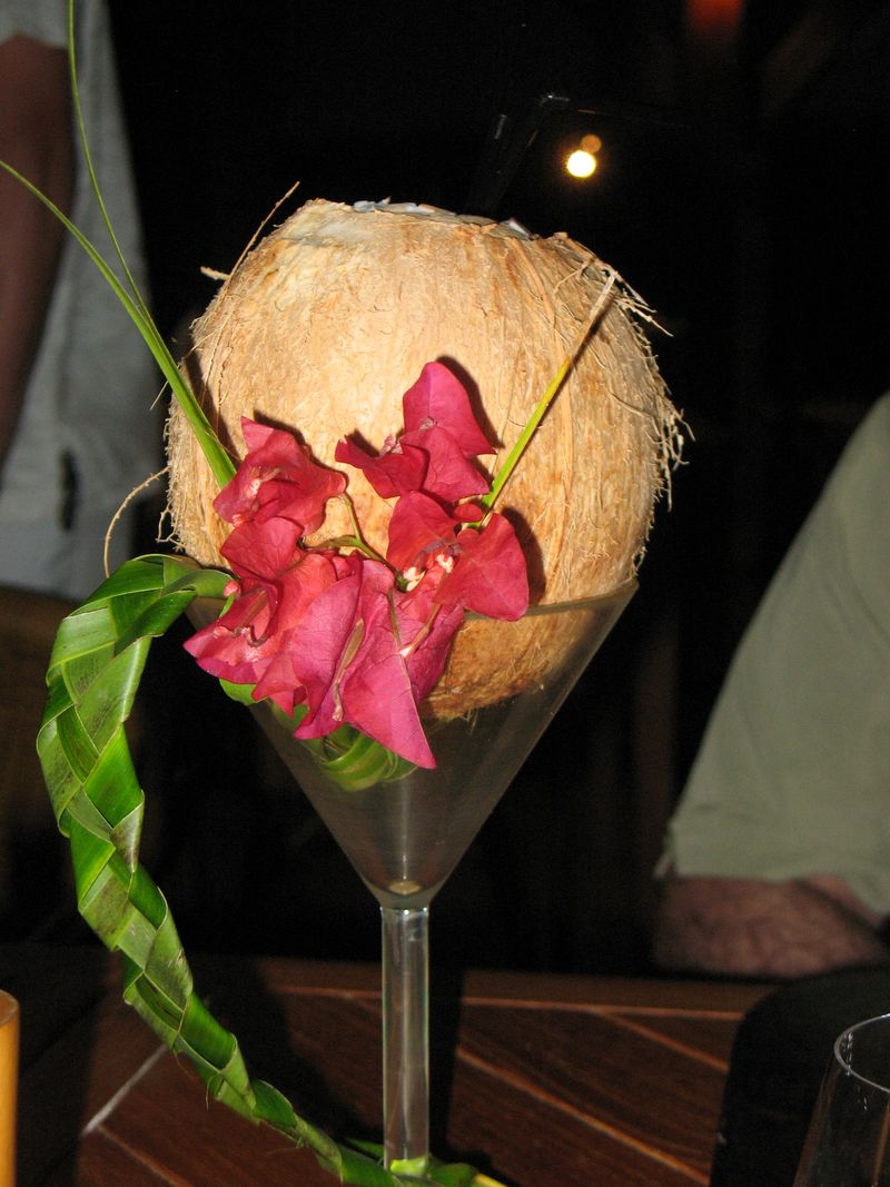 ST Regis Resort Bora Bora coconut cocktail
