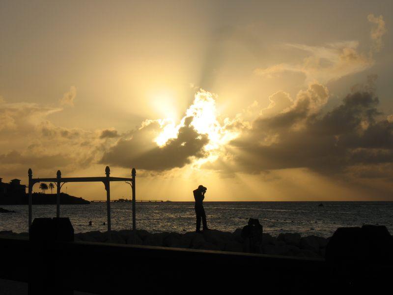 Sunset photo shoot in Antigua
