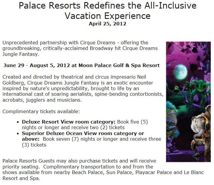 Palace cirque